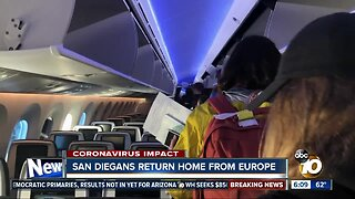 San Diegans return home from Europe amid coronavirus concerns