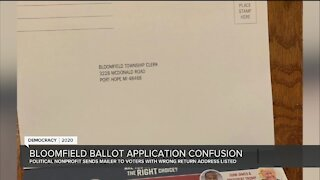 Third-party absentee ballots with incorrect address creating confusion in Oakland County