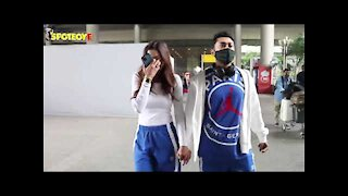 Gauahar Khan And Zaid Darbar Return To Mumbai After Celebrating New Year | SpotboyE
