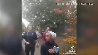 Liberal College Students Chase Preacher Off Campus, Rip Up Bible