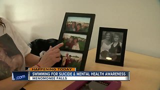 Swimming for suicide and mental health awareness