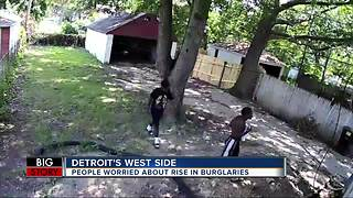 People worried about rise in burglaries on Detroit's west side