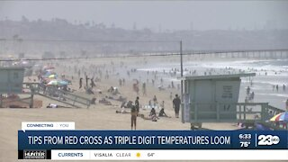 Tips from Red Cross as triple digit temperatures loom
