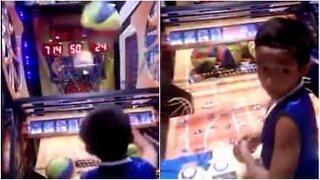 Barn har utrolige basketball evner