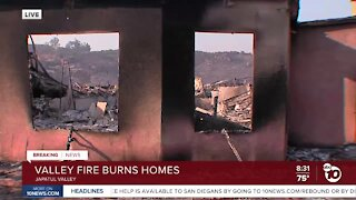 Live look at a home burned from the Valley Fire