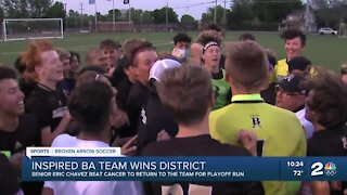 Broken Arrow soccer wins district alongside inspiring teammate