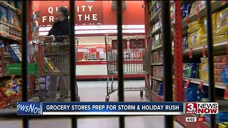 Grocery Stores Prep for Storm & Holiday Rush