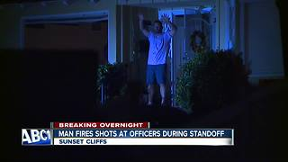 Man opens fire at police during Sunset Cliffs standoff