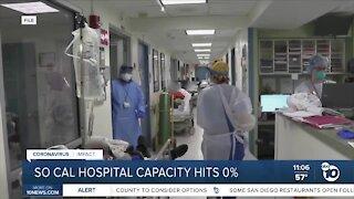 SoCal hospital capacity hits 0%, hospitals adjusting