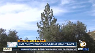 East County residents without power