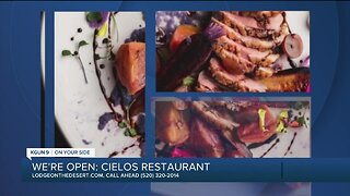 Cielos Restaurant selling takeout meals