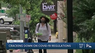 Cracking down on COVID-19 violations