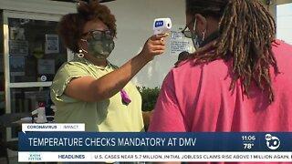 Temperatures checks mandatory at DMV
