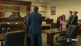 Bank robbery suspect appears in court