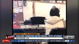 Brawl between teacher and student