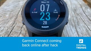 Garmin Connect coming back online after hack