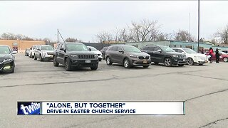 """Buffalo church holds """"drive-in"""" Easter service"""