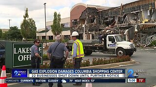 Recovery begins after Columbia shopping center explosion displaces 22 businesses