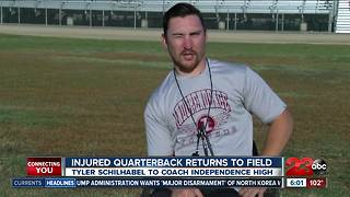 Injured football player takes on new role on the field