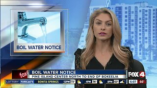 Boil water noticed in effect for parts of Pine Island