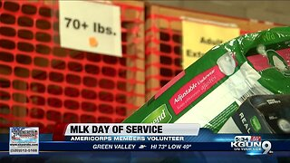 AmeriCorps members take on community service projects on MLK Day
