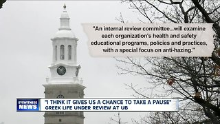 Greek life under review a UB