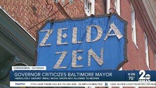 Governor criticizes Baltimore mayor