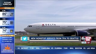 New nonstop service from Tampa to Seattle