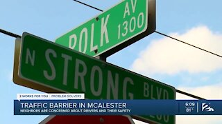 Traffic barrier causing concerns for McAlester residents
