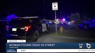 Chula Vista woman found dead in street