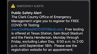 Public safety alert to get tested for COVID-19