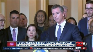 Gov Gavin Newsom signs exec order to hold death penalty executions