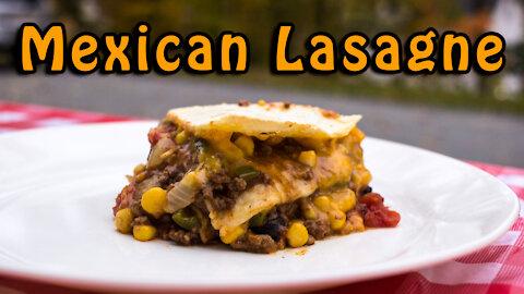 Dutch Oven Mexican Lasagne