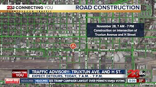 California Ave closed at Easton Drive