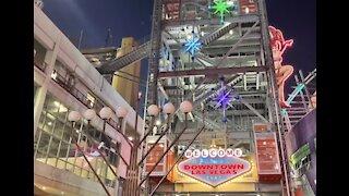 Clark County, Fremont Street lights menorahs for Hanukkah