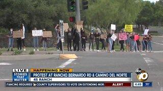 Protest at Rancho Bernardo Rd & Camino Del Norte