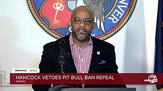 News conference: Mayor Michael Hancock vetoes pit bull ban repeal