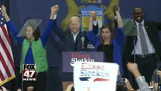 Former Vice President Joe Biden rallies for democrats in Lansing