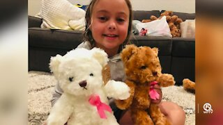 Girl selling 'Cancer Bears' after mom fought breast cancer