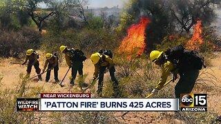 Patton Fire burns 425 acres