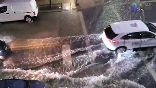 Flooded streets in Fells Point Thursday night