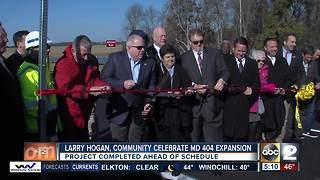 MD 404 expansion done in time for Thanksgiving travelers