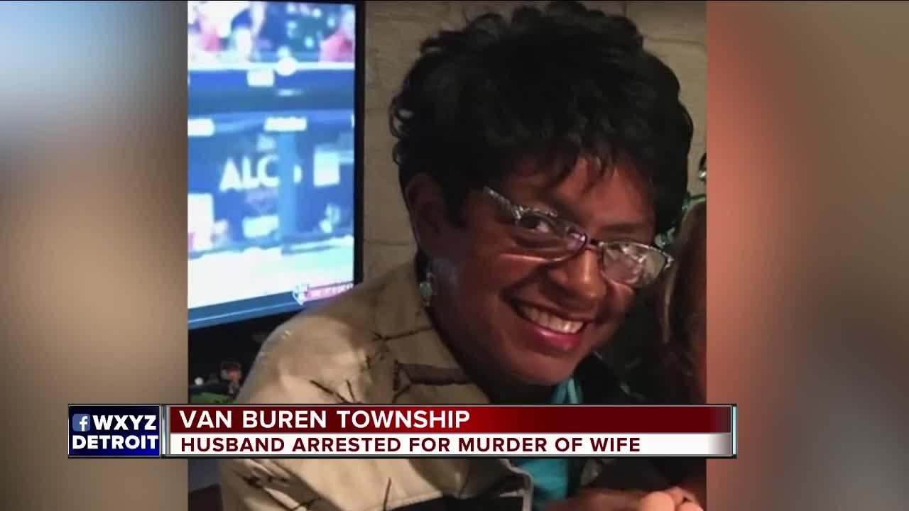 Husband arrested for murder of wife in Van Buren Township