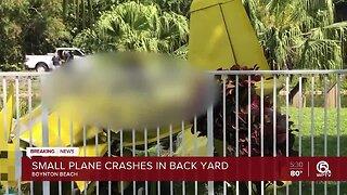 Small plane crashes in Boynton Beach backyard