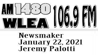 Wlea Newsmaker, January 22, 2021, Hornell School Superintendent Jeremy Palotti