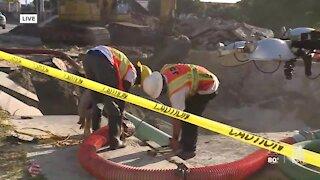 Crews work to repair major water main break in West Palm Beach