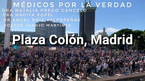 Médicos por la Verdad en Plaza Colón, Madrid