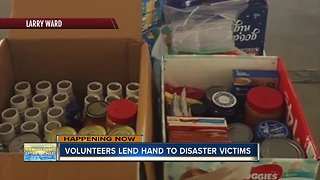 Volunteers lend hand to disaster victims on Thanksgiving