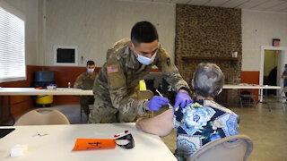 Texas Military Department Distributes COVID-19 Vaccine to Cuero, Texas
