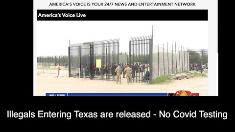 Illegals Arriving in Texas July 30 released at a gas station - No Covid testing